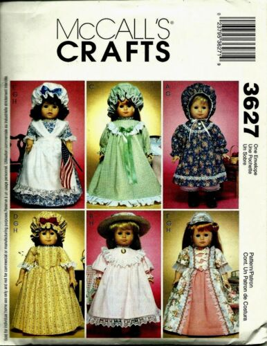 McCall/'s 3627 18 inch DOLL WARDROBE Pattern Reduced!