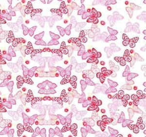 HYDROGRAPHIC WATER TRANSFER HYDRODIPPING FILM HYDRO DIP PINK BUTTERFLY 1SQ