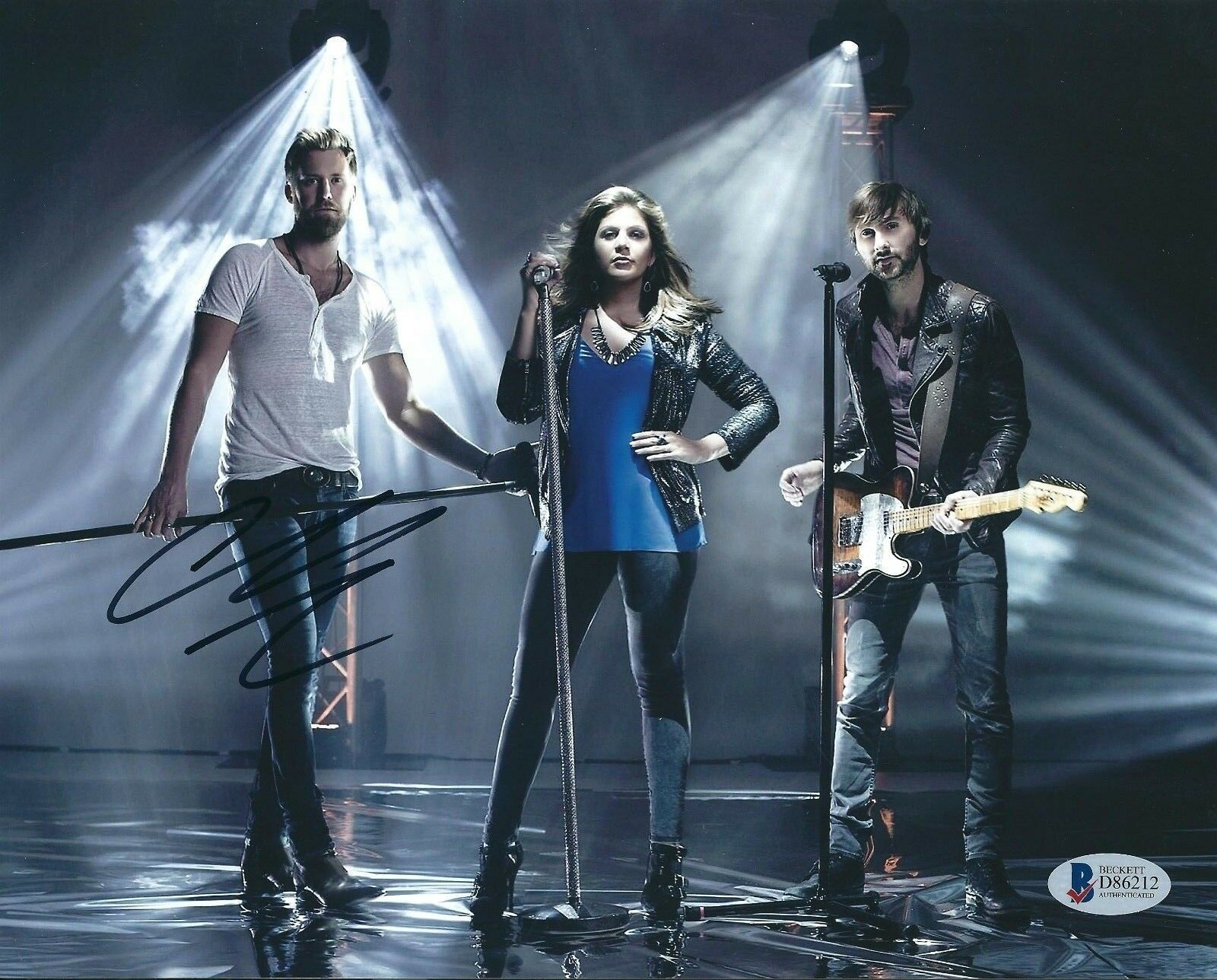 Charles Kelley Signed 8x10 Photo *Dierks Bentley *Lady Antebellum BAS Beckett
