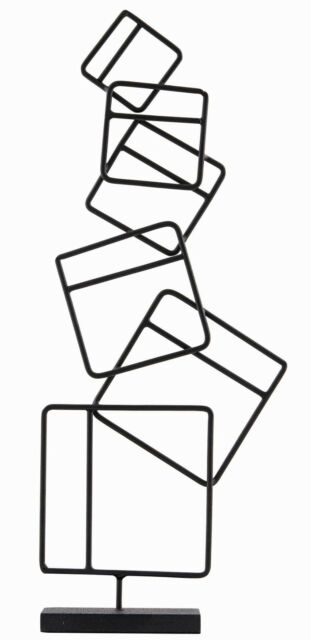 House Doctor Skulptur Quadrate schwarz Metall Deko Objekt 32,5 cm squares