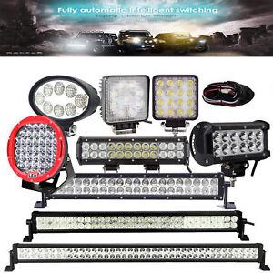 Barre-a-LED-phare-de-travail-Feux-LED-Worklight-27W-36W-48W-12-034-24-034-32-034-42-034-52-034