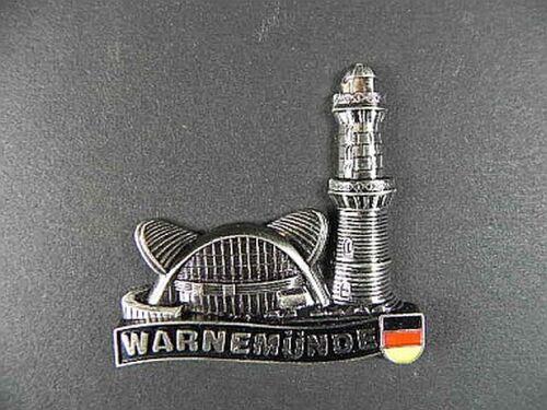 Magnet Metall Warnemünde Leuchtturm,5cm Germany,Souvenir Deutschland