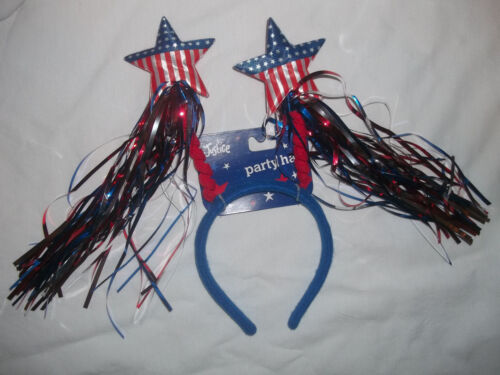NEW JUSTICE GIRLS HEADBAND HAT//CAP YOUR CHOICE PATRIOTIC//BIRTHDAY 9 CANDLES