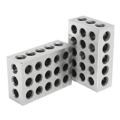 2pcs Stahl 0.0002 Präzision 1-2-3-Blocksatz Für Inspektionsarbeiten 25x50x75mm