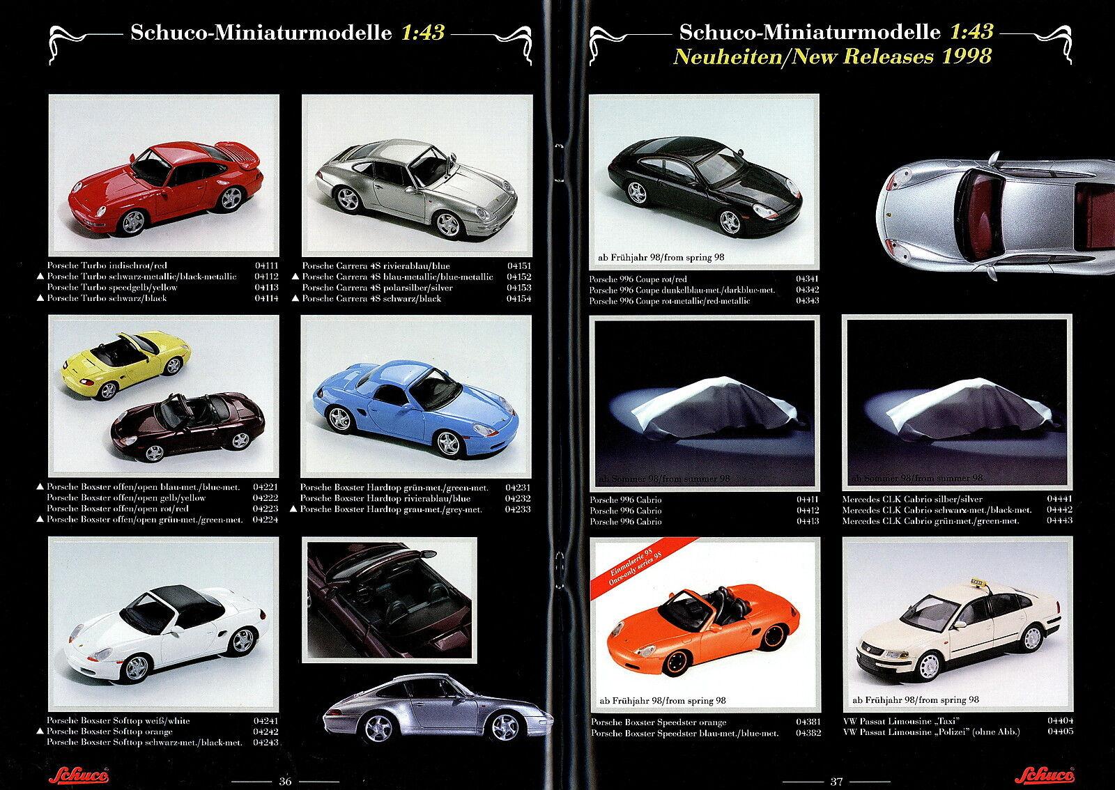 Schuco Collection Prospekt D GB 1998 Modellautos Miniaturmodelle Miniaturmodelle Miniaturmodelle model cars 3b3fdc