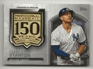 2019-Topps-Update-GIANCARLO-STANTON-150th-Anniversary-Medallion-Relic-Yankees