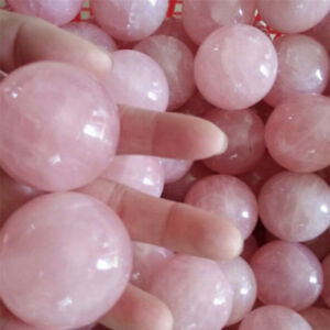 Healing-Crystal-Natural-Pink-Rose-Quartz-Gemstone-Ball-Divination-Sphere-NT