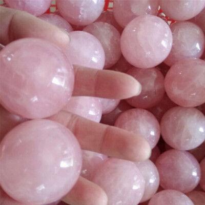 Natural Healing Crystal Natural Pink Rose Quartz GemstoneBalls Divination/'SpheER