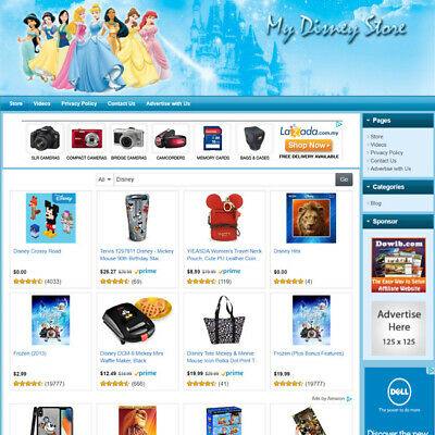 Disney Toys Store Best Affiliate Website For Sale With Potential High Income 721620292773 Ebay