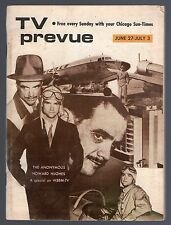 HOWARD HUGHES~AVIATOR~LEO G.CARROLL~LEE PATRICK~CHICAGO TV PREVUE GUIDE 1971