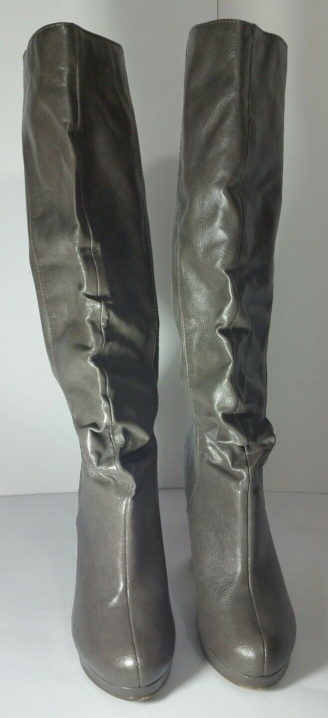 MA Michael Antonio Green Fashion Knee High Boots Size 7.5 C.6