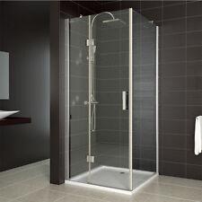 Duschkabine Duschabtrennung Dusche 80x80 cm NANO Duschwand Eckeinstieg Echtglas
