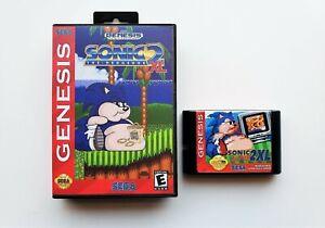 Sonic 2 XL (Sonic the Hedgehog) Game / Case - Sega Genesis - Fan Made Mod (USA)