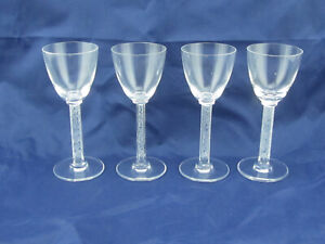 Lalique-Phalsbourg-6-034-Crystal-Cordial-Glass-Set-of-4-Signed-Mint-Condition