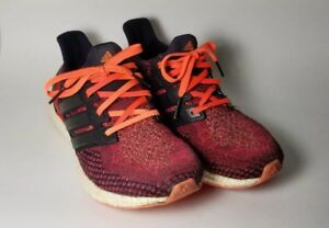 ac5df46c5 Used Adidas Ultra Boost 2.0 Mens Running Shoes Solar Red Black ...
