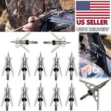 "12PCS Archery Hypodermic Broadheads 2/"" Dia Expandable Arrowheads 2 Blade 100G"