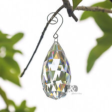 Clear Olive Chandelier Glass Crystals Lamp Prisms Hanging Drops Pendants 90mm