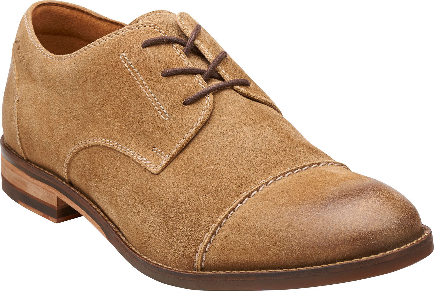 Men's Clarks 1825 Collection Exton Cap LaceUp shoes Taupe Suede 26107748