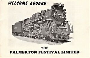 Vintage-Railroad-034-The-PALMERTON-FESTIVAL-Limited-034-advertising-booklet-Railroad