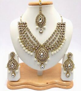 Image Is Loading Indian Asian Bridal Jewellery Wedding Handmade Bollywood