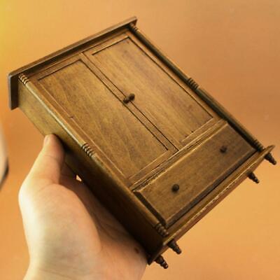 Dolls House Dark Oak Wooden Framed Wall Mirror 1:12 Scale Miniature Accessory