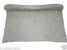 High quality 1.2mtr Chaton diamante stitch sew on reel metal mesh bling crystal