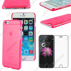 "Coque Housse Etui Rigide Ultra Fin Slim Rose Apple Iphone 6 Plus 5,5"" + Verre"