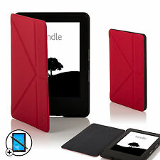 Leather Red Smart Origami Case Amazon Kindle (7th Gen 2014) Screen Prot Stylus