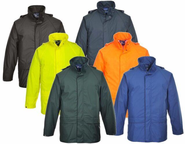 Portwest Sealtex Ultra Unlined Jacket Waterproof Hooded Safety Work Wear S491