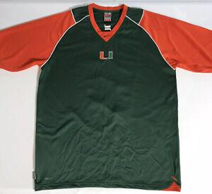 Nike Team University of Miami Hurricanes Men's Size XL Football Shirt Jersey EUC