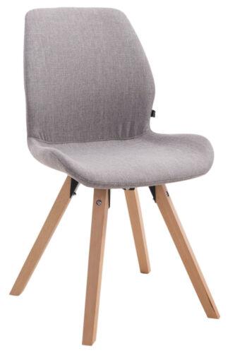 Chaise salle à manger PERTH fauteuil tissu carré cuisine bureau scandinave bois