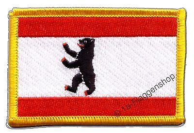 DEUTSCHLAND BERLIN AUFNÄHER Flaggen Fahnen Patch Aufbügler 8x6cm