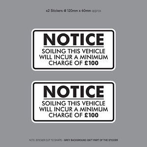 Minimum-Soiling-Charge-100-Sticker-Ideal-For-Taxi-Coach-Bus-Minibus-SKU3130
