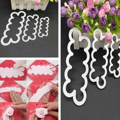 3D Rose Petal Flower Cake Cutter Fondant Icing Tool Decorating Mould gkd