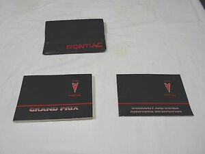 PONTIAC FACTORY OWNERS MANUAL CASE