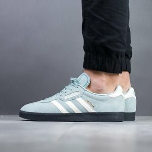 size 40 f7432 f69bd Image is loading ADIDAS-ORIGINALS-GAZELLE-SUPER-RAW-GREEN-BLACK-SOLE-