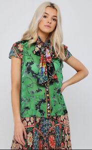 Alice Olivia Jeannie Silk-Blend Top Women/'s