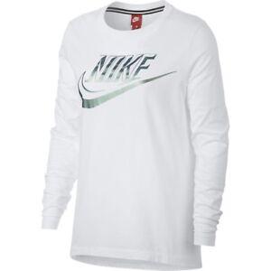 nike metallic long sleeve top