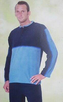 Seraph Lucas Man Pajamas Quattrodibastoni Long Winter Fleece Mod