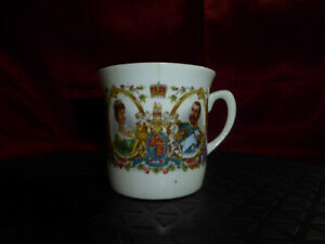 Antique-CORONATION-CUP-King-George-V-amp-Queen-Mary-1911-Grafton-Royal-Memorabilia