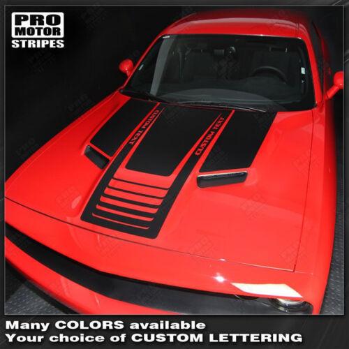 Dodge Challenger Hood Stripes Decals w// Optional Text 2011 2012 2013 2014