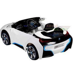 Image Is Loading Bmw Licensed I8 12v Kids Ride On Car