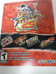 XBOX-360-Street-Fighter-25th-Anniversary-DLC-2-games-add-ons-BRAND-NEW