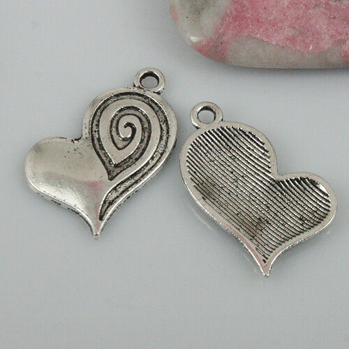 12pcs Tibetan Silver Color Coeur Charms EF0450