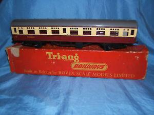 1960's Tri-ang R29 Crimson And Cream Mainline Composite Coach In Original Box