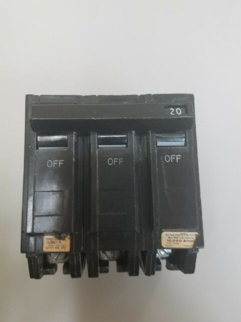 1 USED GENERAL ELECTRIC THQB 90A 3P CIRCUIT BREAKER ***Make Offer***
