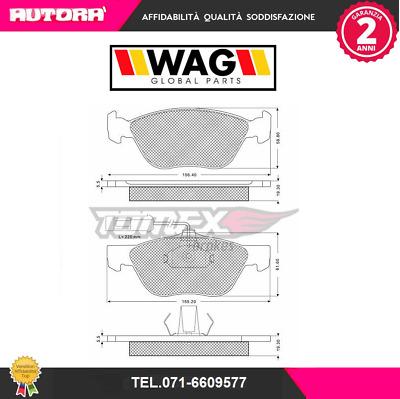MARCA-WAG 1249 Kit pastiglie freno a disco ant.Alfa Romeo-Fiat-Lancia