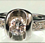 thumbnail 6 - Ladies Solitaire Cocktail Ring Cubic Zirconia  Sizes 5,9,10 Silver Cocktail