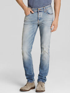 Nudie-Herren-Bio-Denim-Slim-Fit-Stretch-Jeans-Hose-Grim-Tim-Joshua-Sun