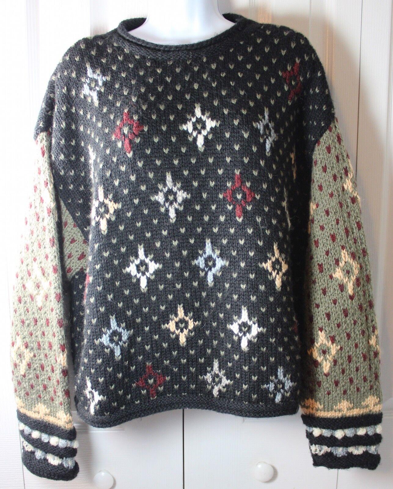 LL Bean Handknit Women's Medium Merino Wool Blend Sweater